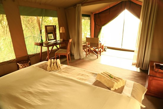 Rekero Camp, Asilia Africa: Nothing like waking up to fresh air.. Aaaaah!