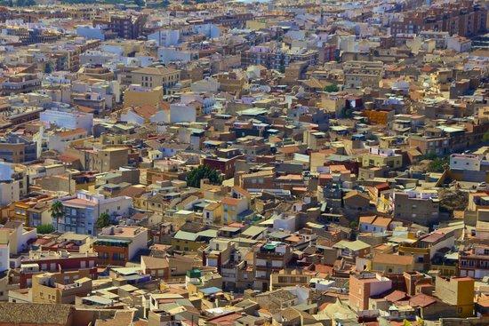Parador de Lorca: View of Lorca from the hotel on a morning