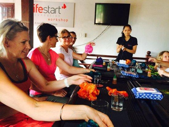 Lifestart Foundation Workshop: Making our lanterns.