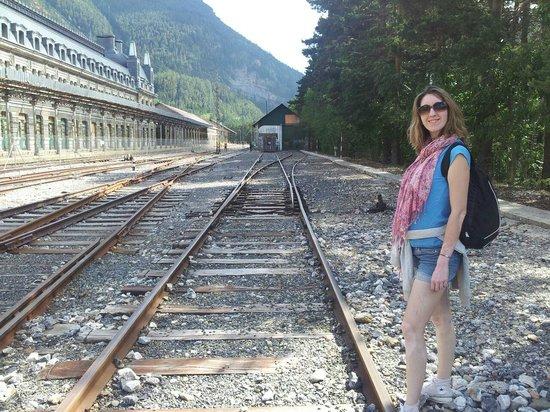 Estación Internacional de Canfranc: Andén español