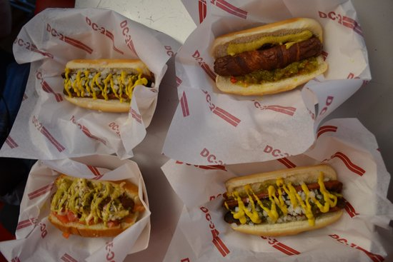 Eat DC-3: Selection of speciality hot dogs