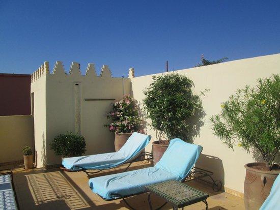 Riad Aguerzame : rood terrace