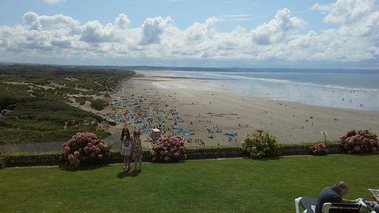 Saunton Sands Hotel: View from the terrace lawn