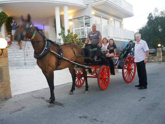 Filoxenia Hotel: Horse and carriage from Tsilivi