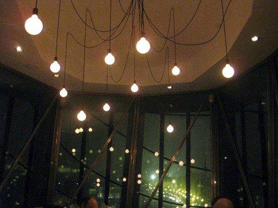 Celeste Restaurant : Lighting fixture on the top floor