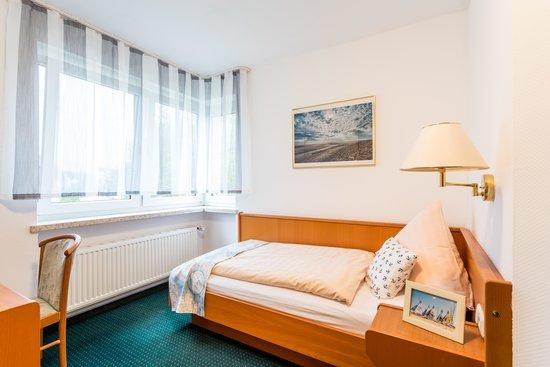 Ankerplatz Hotel: eines unserer Einzelzimmer