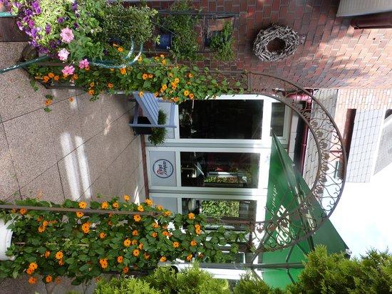 Ankerplatz Hotel: unsere Terrasse