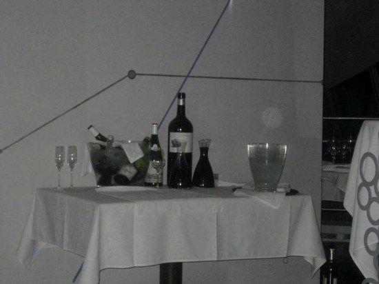 Celeste Restaurant: The wine table