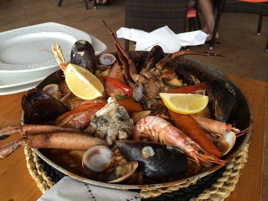 Restaurante Es Mollet De S'illot : Paella di frutti di mare