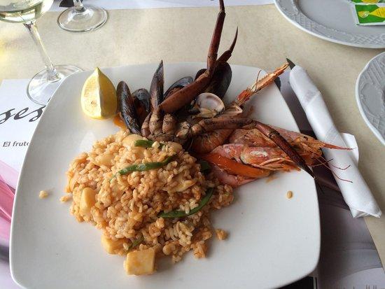 Restaurante Es Mollet De S'illot : Paella frutti di mare