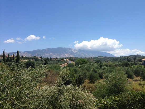 Avithos Resort: Our view from our balcony of Mount Enos