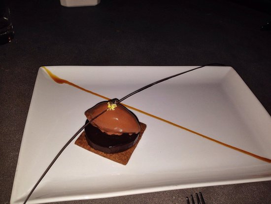 Japonais by Morimoto : Salty caramel chocolate desert tastes even better than it looks!