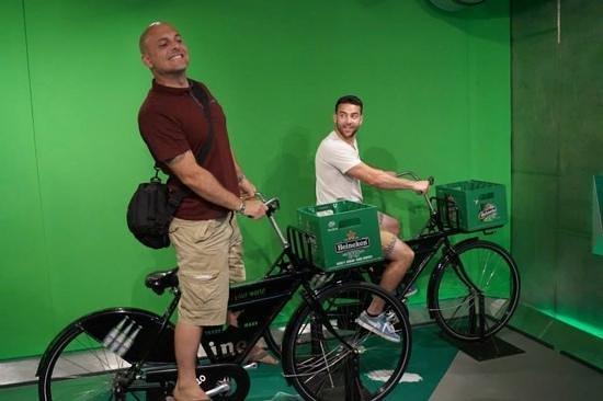 Heineken Experience : picture on the bikes