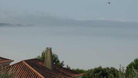 Solplay Hotel de Apartamentos: brouillard sur l'estuaire