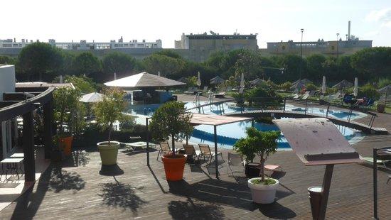 Solplay Hotel de Apartamentos: piscine vue de la chambre