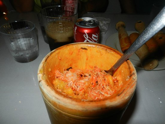 Flavors of San Juan Food and Culture Tours: Mafungo made by me for lunch, topped with Chicken Stew - YummY!