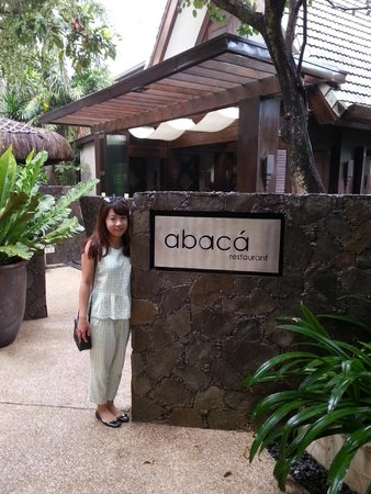 Abaca Restaurant: Abaca front sign