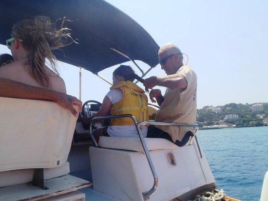 Levante Speedboat Excursions: Captain Spiros - plaiting grandaughter's hair - extra service