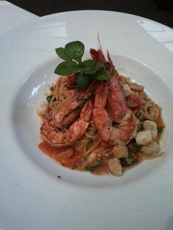 Abaca Restaurant: Prawn spaghetti
