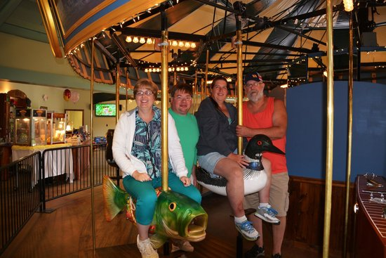Adirondack Carousel: Our chidren are all grown up but it didn't stop us from enjoying the carousel!