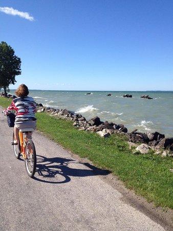 Explore Pelee: West Side beginning of bike day