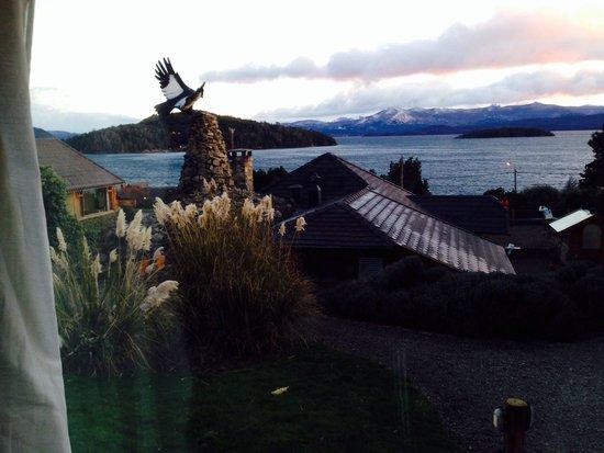 Nido del Condor Hotel & Spa: Vista desde mi cabaña.