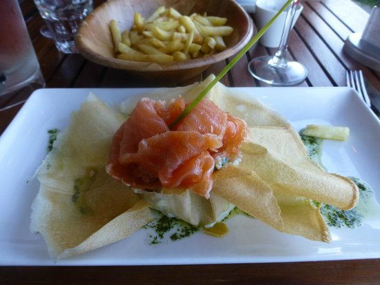 La Cale : Galette with Salmon
