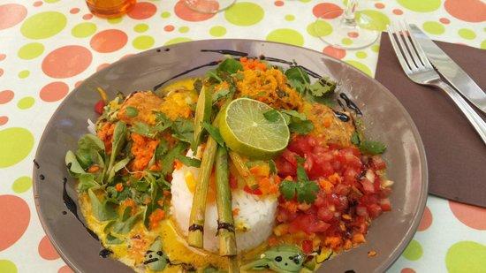 La p'tite parlotte : Saumon au curry rougail de tomate et riz thai