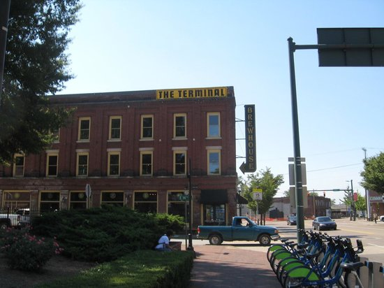 The Terminal Brewhouse: Exterior of building from sidewalk