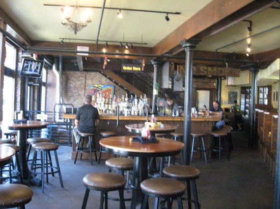 The Terminal Brewhouse: Bar seating downstairs