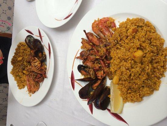 Can Bep: Paella marinera