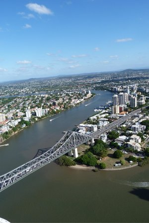 Meriton Serviced Apartments Brisbane on Adelaide Street: Vista desde el piso 70