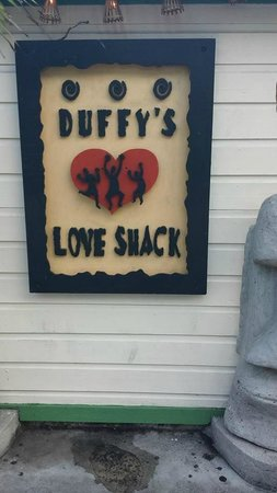 Duffy's Love Shack: sign