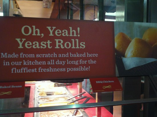 Yeast Roll Sign Picture Of Golden Corral Orlando Tripadvisor