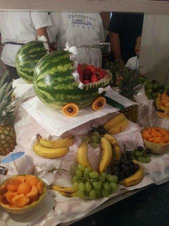 Hotel Sympathy: Decorazioni di frutta