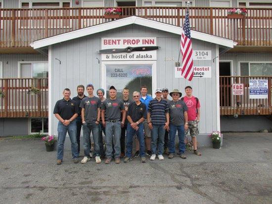 Bent Prop Inn & Hostel of Alaska: Our whole group!