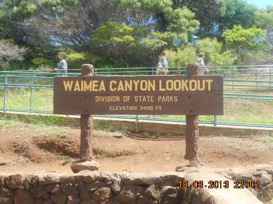 Waimea Canyon : here we are! at last!