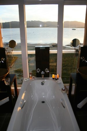 The Lofts Boutique Hotel: View from the bath!