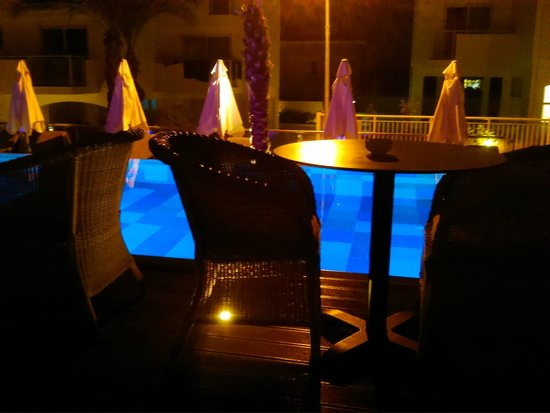 The King Jason Paphos: adults only pool at night
