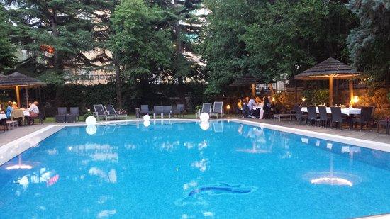 Hotel Clelia: Cene a bordo piscina