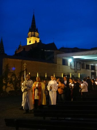Marija Bistrica, Kroatien: The candle walk at the night of the Assumption of Mary day, 2014
