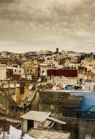 Medina of Tangier : From atop of a shop selling genuine moroccan rugs.