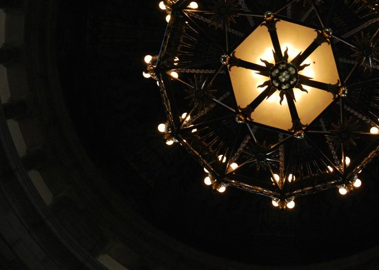 Nebraska State Capitol: One of the chandeliers