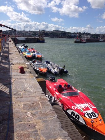 Ashleigh House: Speed boats at torquay harbour