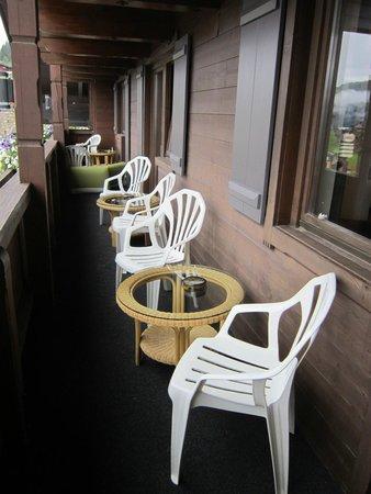 Das Alpenwelt Resort : Riesiger Balkon der Nature Suite