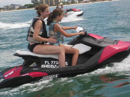 Fly-N-High Waverunners and Parasail : Sandra and Skylar St Pete Beach