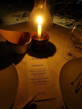 Hechizo: Our lovely table and menu for the special Valentine's Day dinner