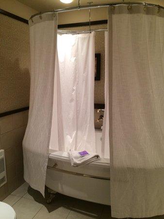 Hotel Le Bonne Entente: Cocooning room bath