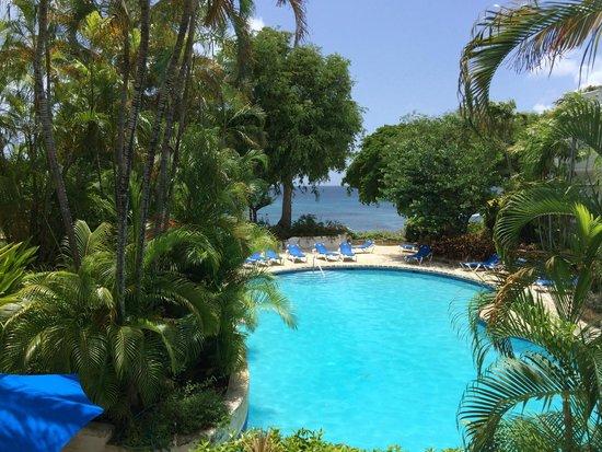 Merlin Bay Villas: View from Gingerbread balcony
