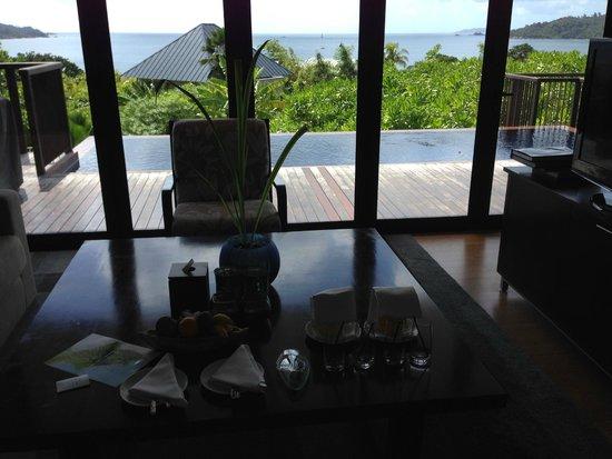 Raffles Seychelles: Living room